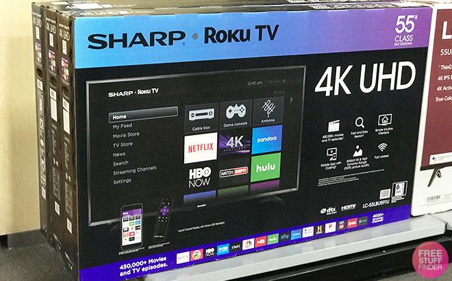 sharp roku tv 55 review