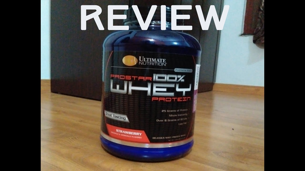 ultimate nutrition prostar whey protein review