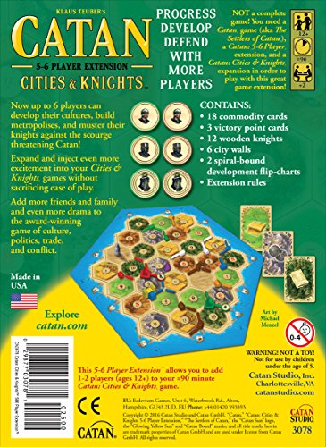 settlers of catan cities and knights review