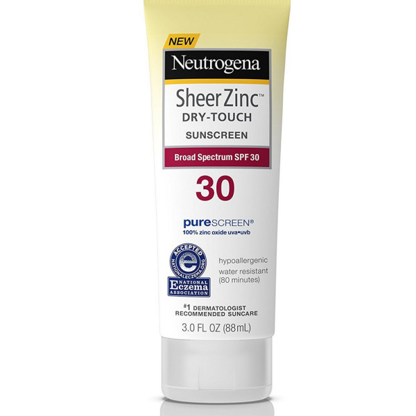 neutrogena sheer zinc dry touch sunscreen review