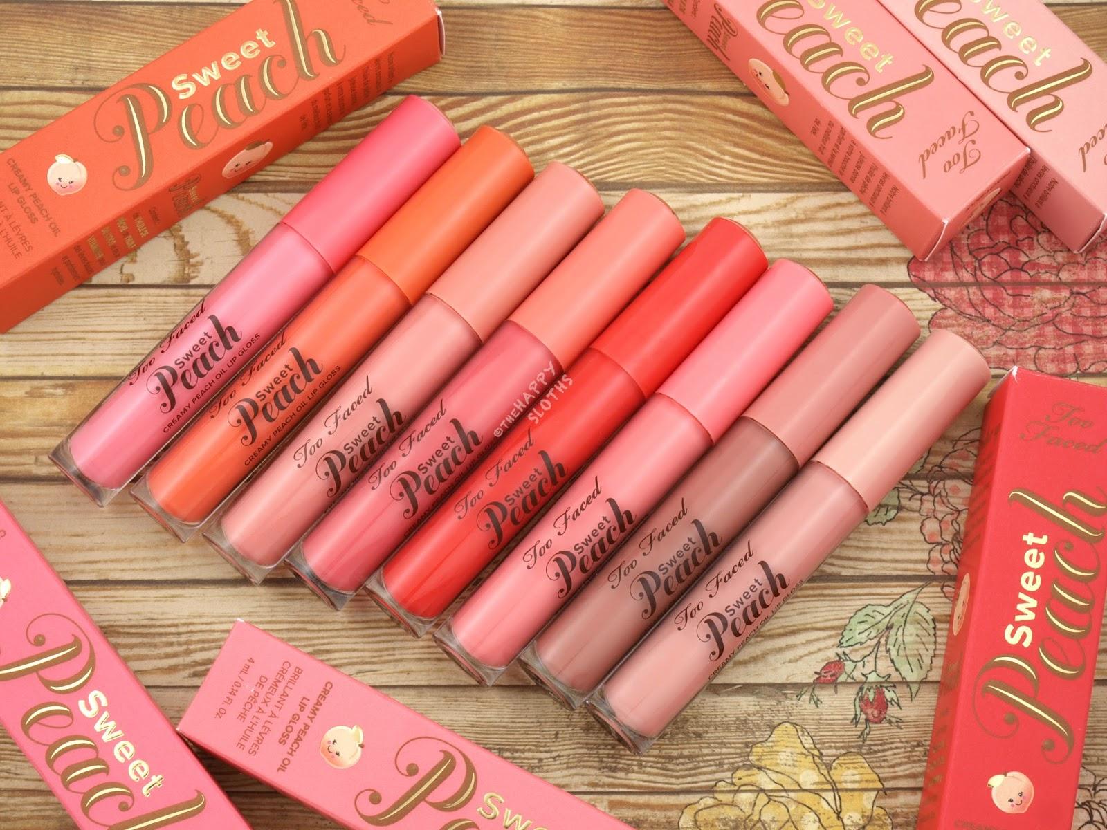 too faced peach lip oil review