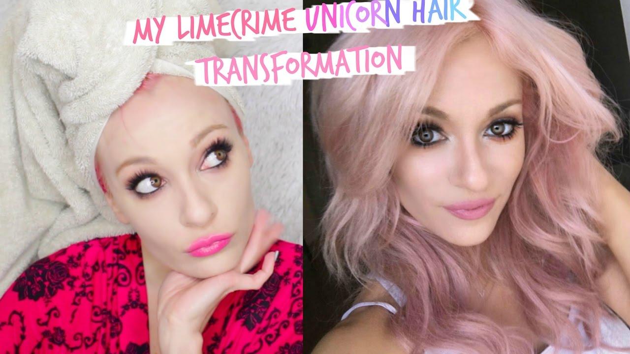 lime crime unicorn hair bunny review