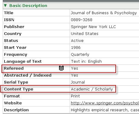 is my article peer reviewed