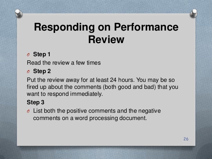 responding to a positive performance review