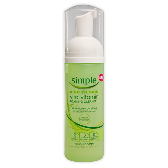 simple kind to skin vital vitamin foaming cleanser review