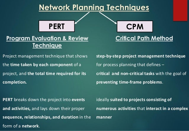project evaluation review technique pert