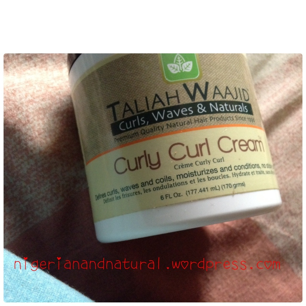 review curly curl cream taliah waajid