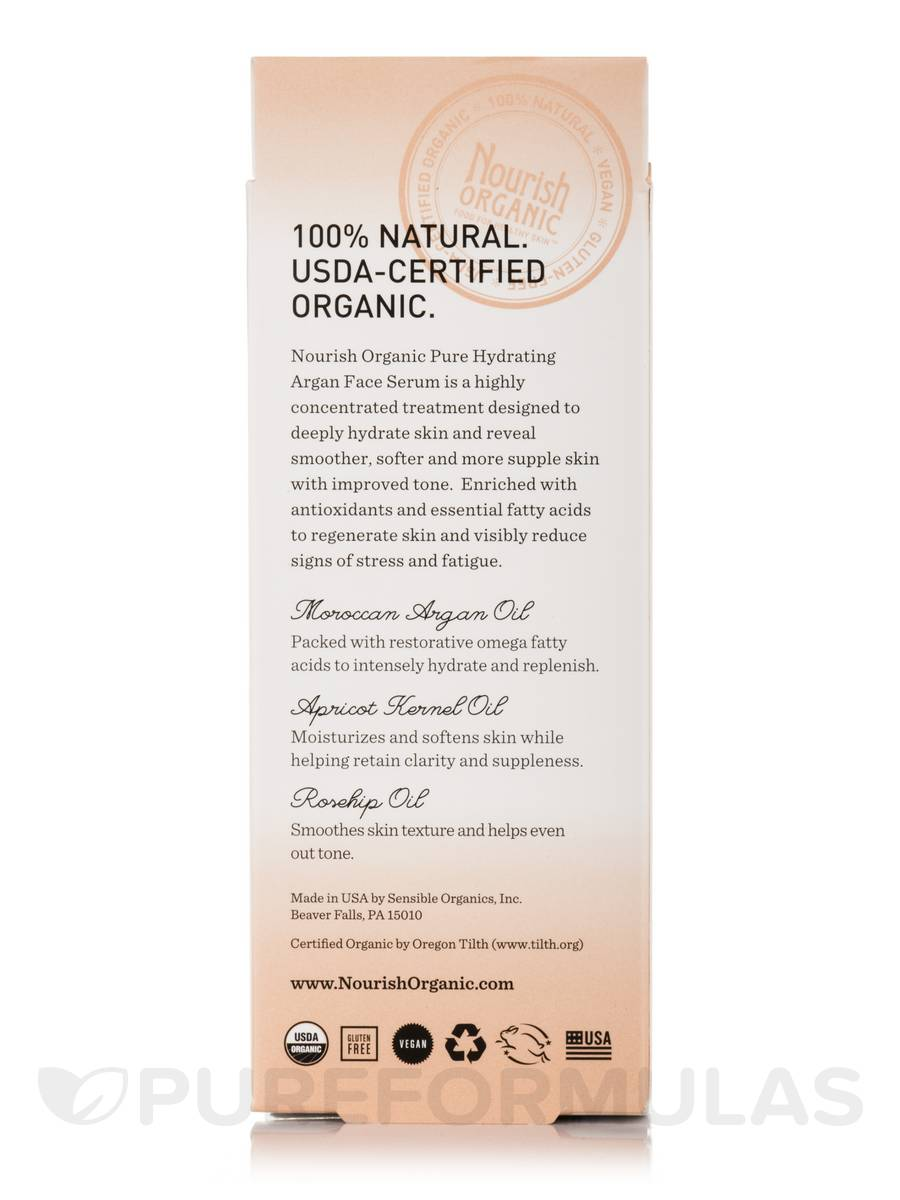 nourish organic argan face serum review