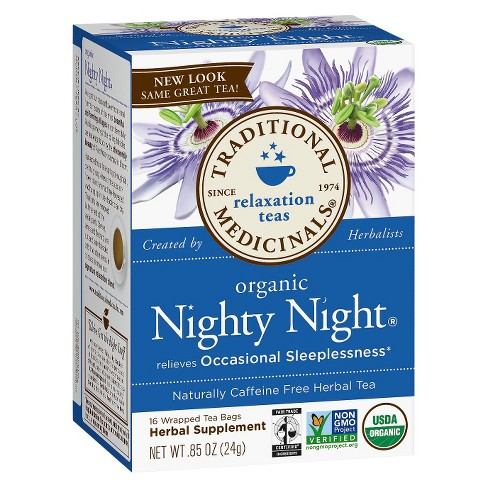 traditional medicinals nighty night tea reviews