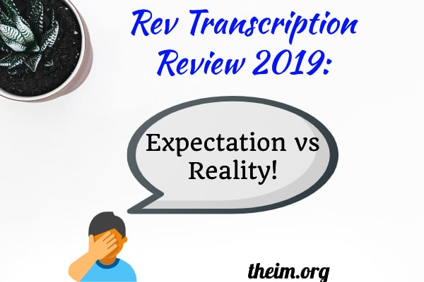 working for rev transcription reviews