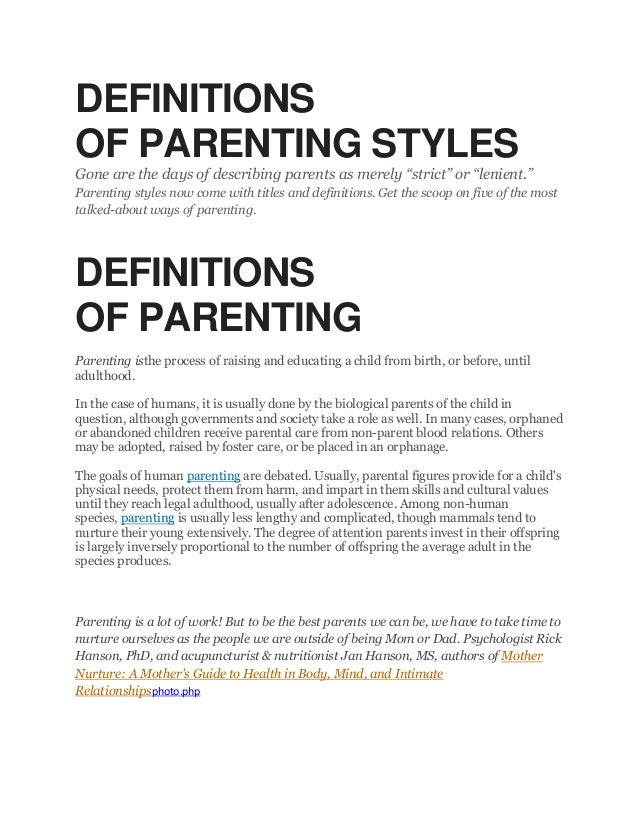 literature review on parenting styles
