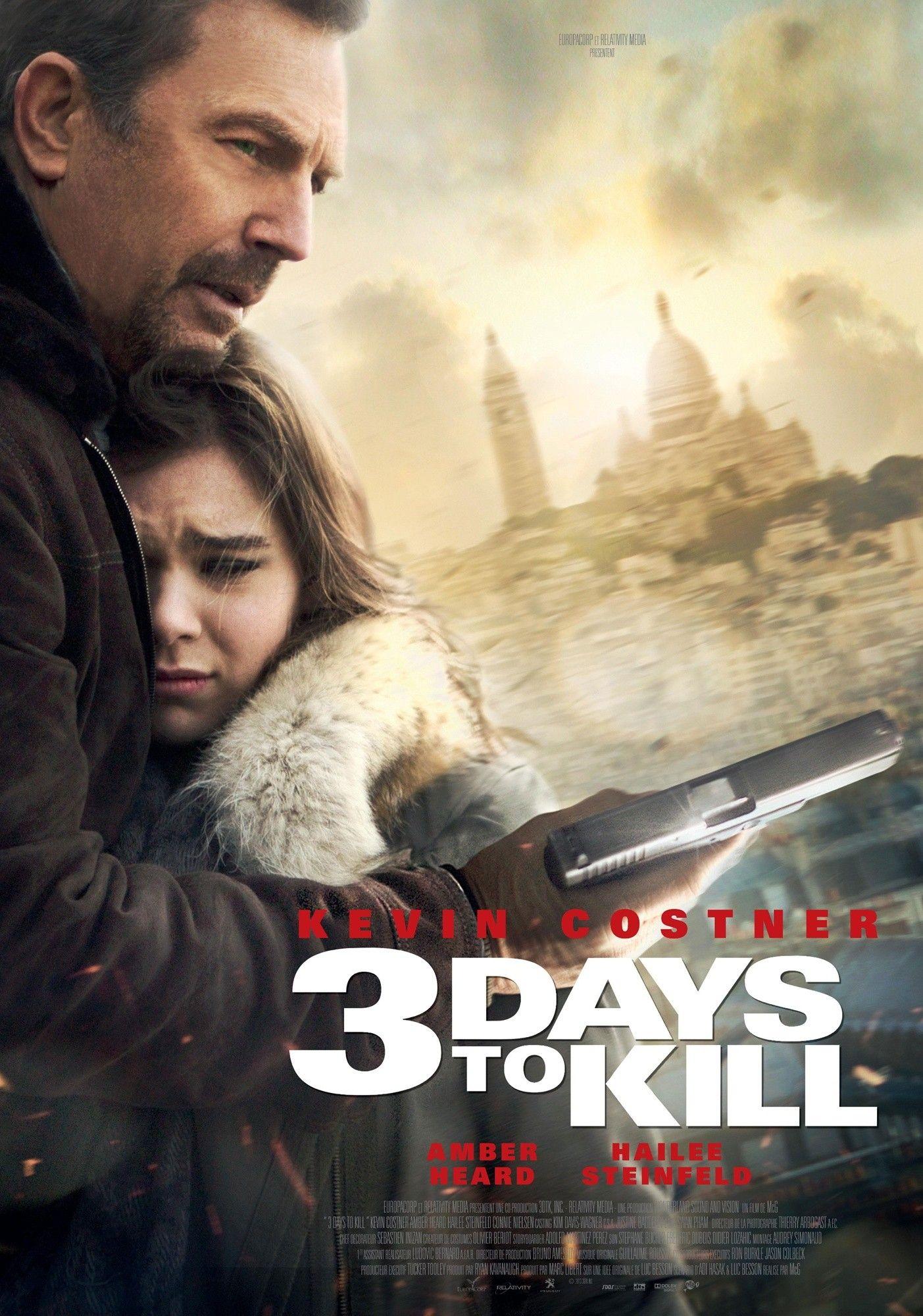 movie review 3 days to kill