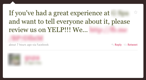 yelp don t ask for reviews