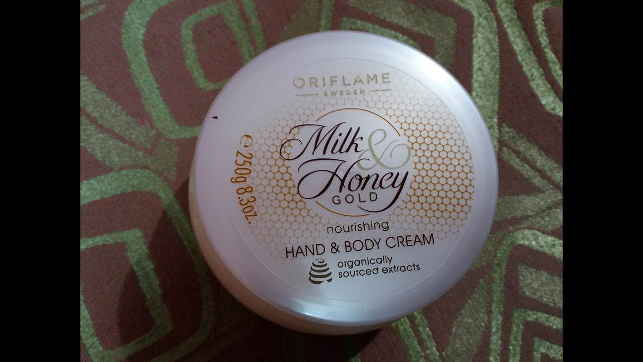 oriflame milk and honey cream review