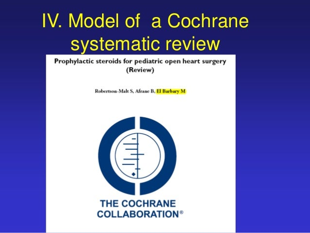 the cochrane library of systematic reviews