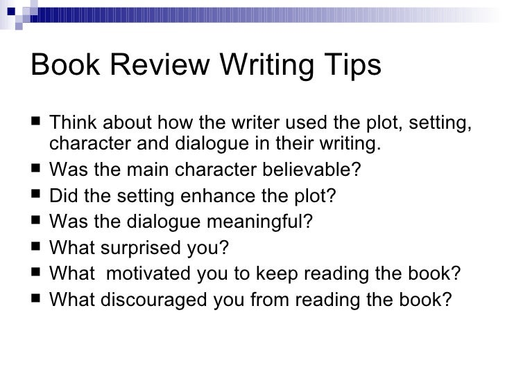 tips for writing a book review