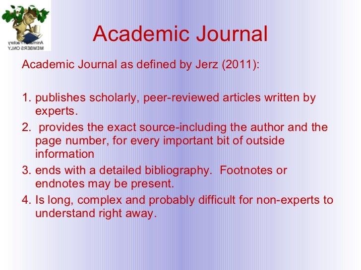 what is an academic peer reviewed journal