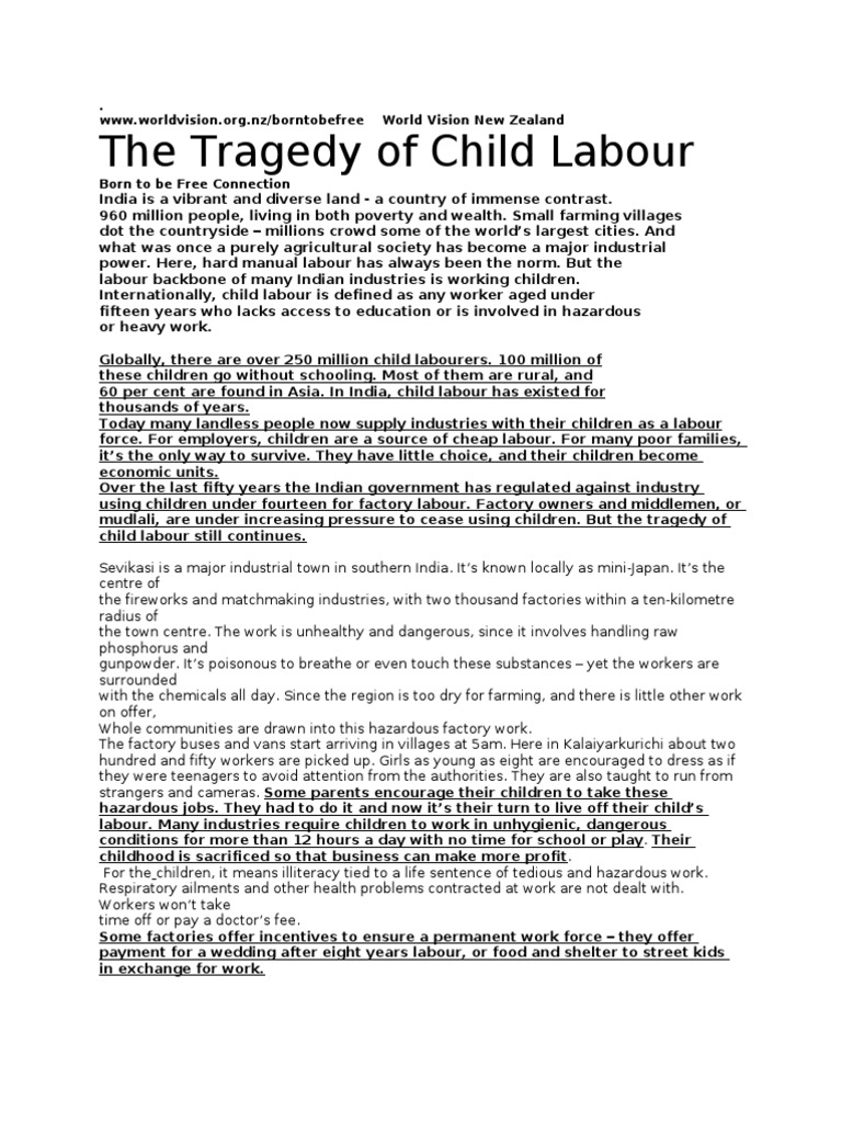 review of literature of child labour