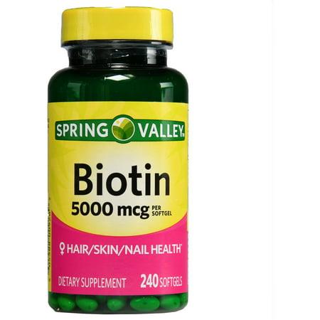 spring valley biotin 1000 mcg reviews