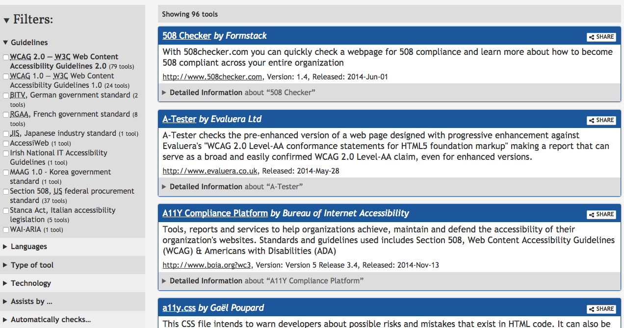 web accessibility evaluation tools reviews