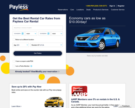 payless lax car rental reviews