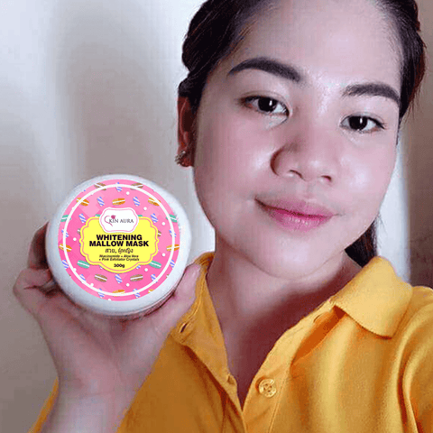 skin aura whitening mallow mask review