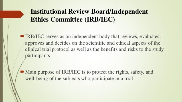 what is the purpose of the institutional review board