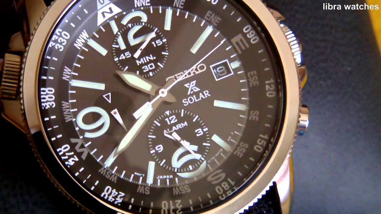 seiko solar chronograph v172 review