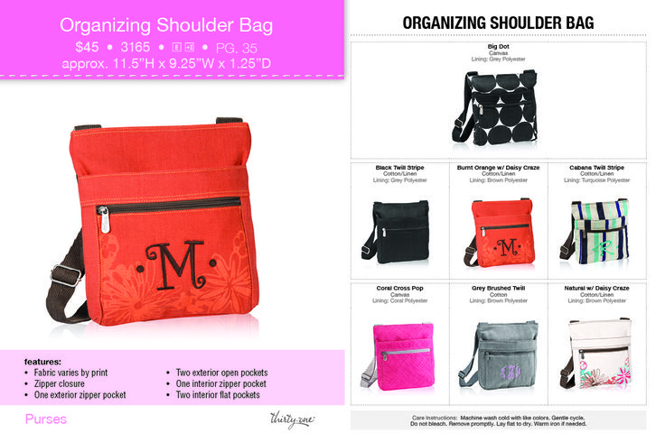 thirty one organizing shoulder bag review