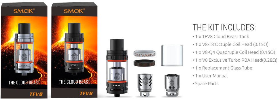 smok tfv8 cloud beast tank review