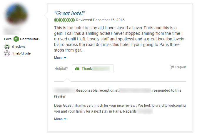 how to write a hotel review example