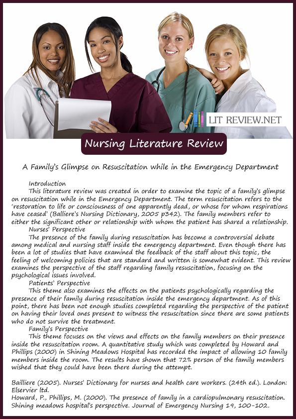 how to write a literature review nursing