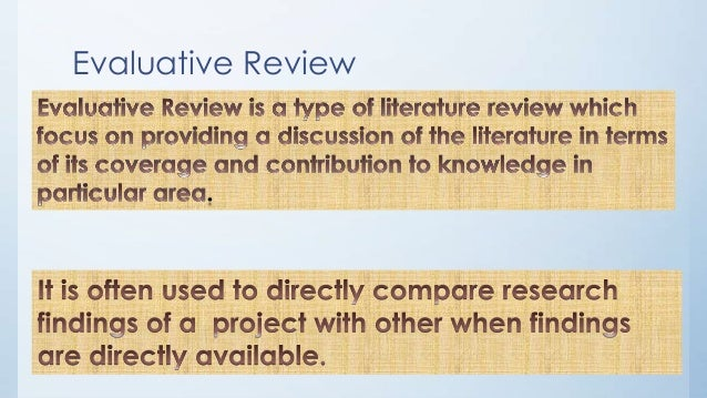 importance of literature review in research methodology