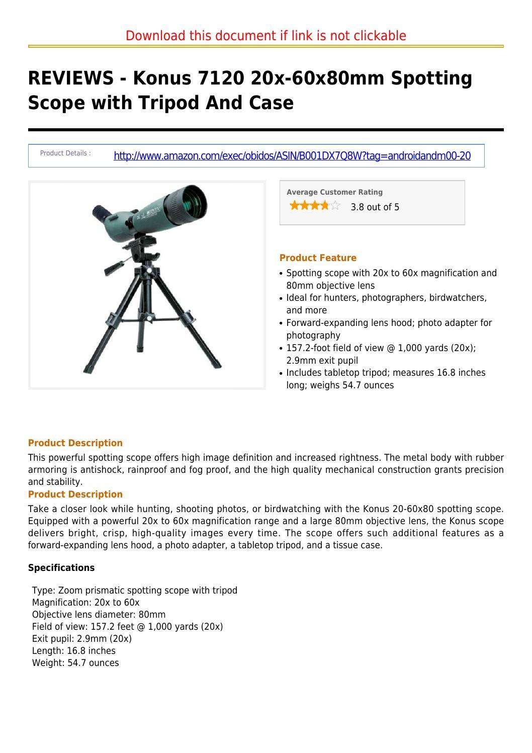 konus spotting scope 20 60x 80mm review
