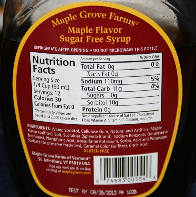 maple grove farms sugar free syrup review