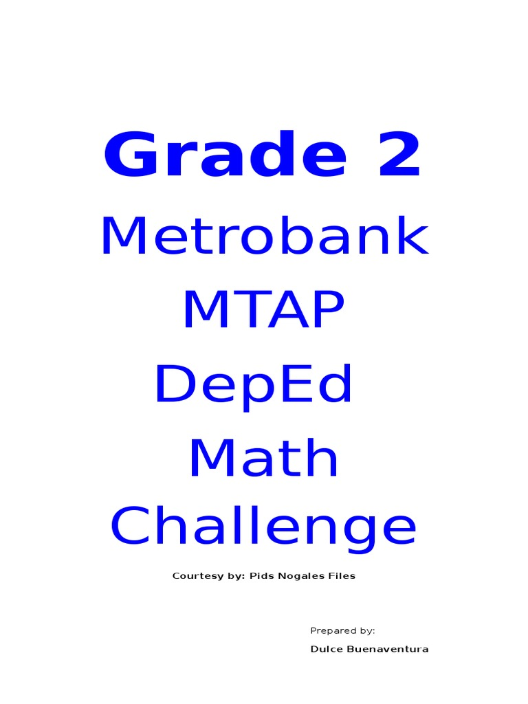 mtap reviewer for grade 2 division orals