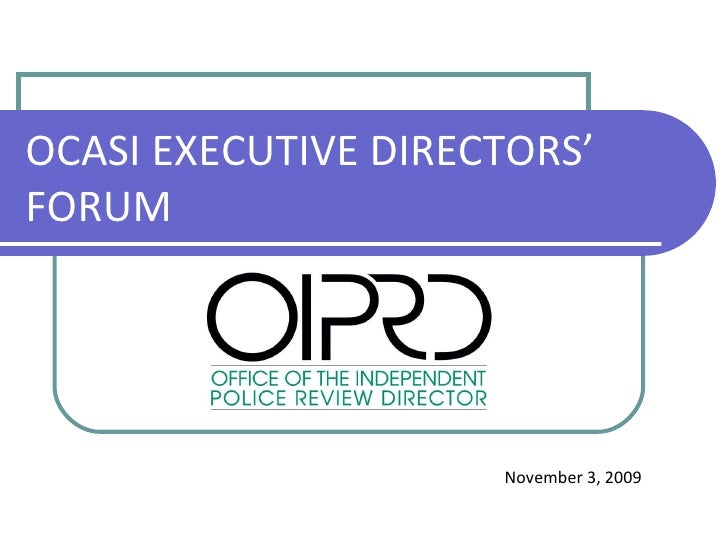 office of independent police review