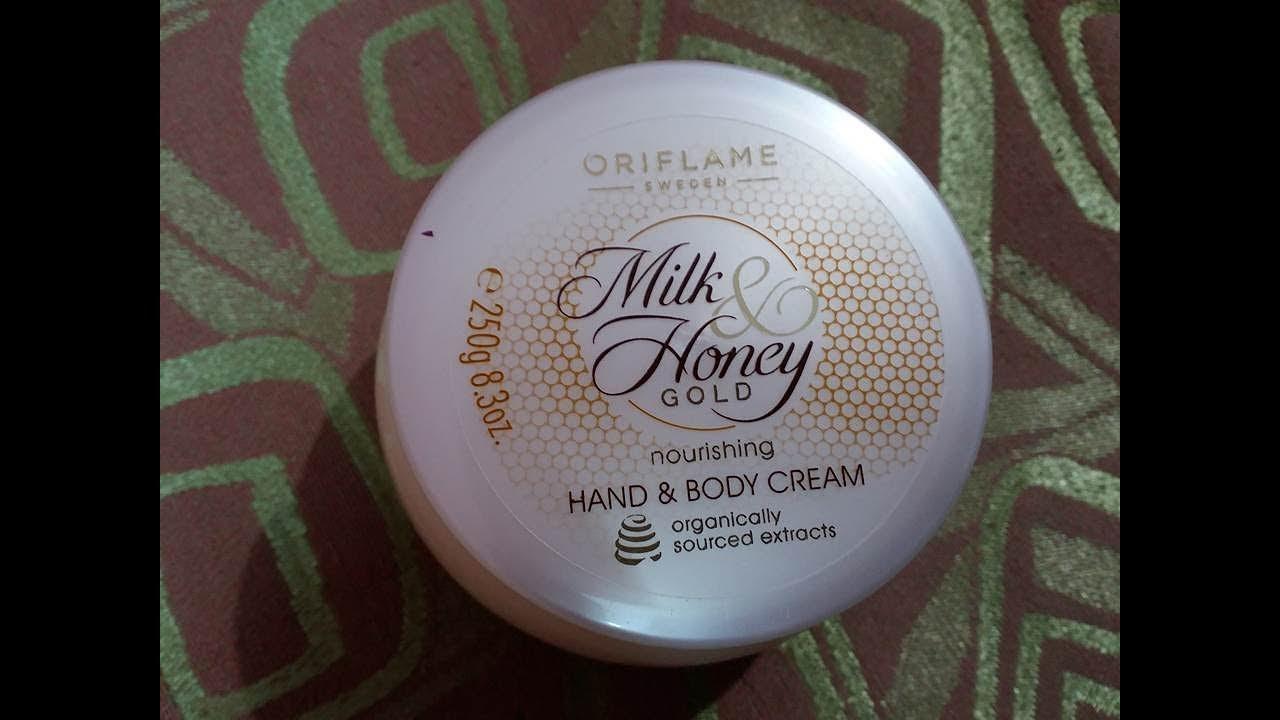 oriflame milk and honey cream review