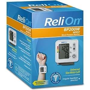 relion wrist blood pressure monitor reviews