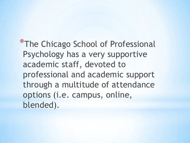 reviews of the chicago school of professional psychology