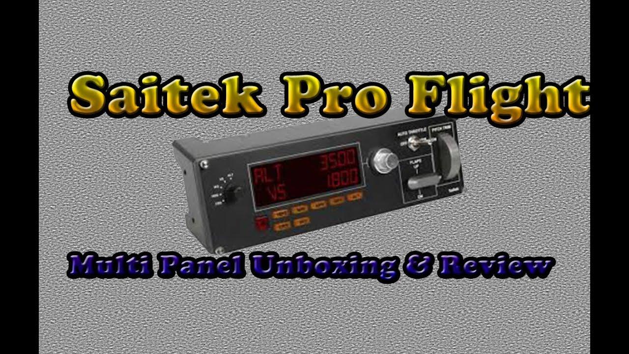 saitek pro flight multi panel review