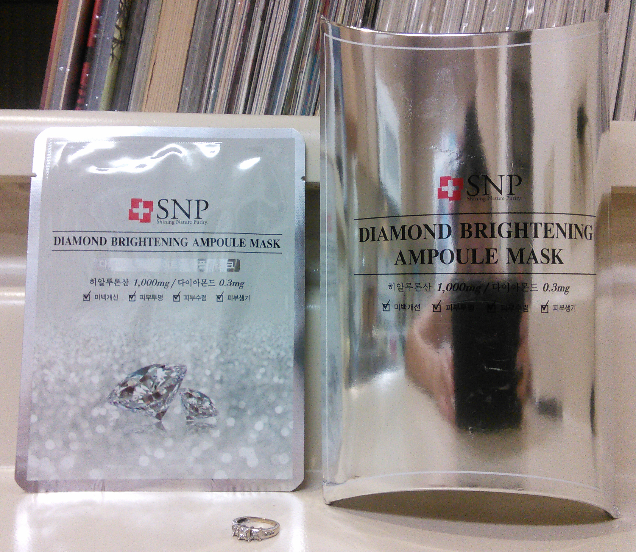 snp diamond brightening ampoule mask review
