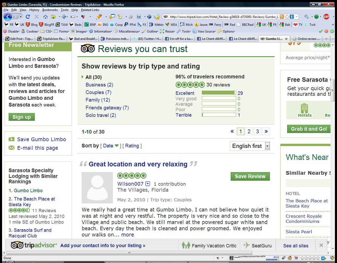 tripadvisor reviews on my website