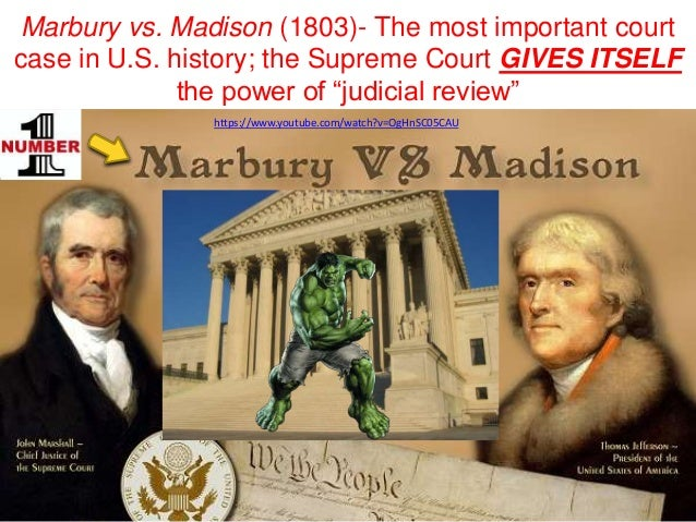 which supreme court case established judicial review